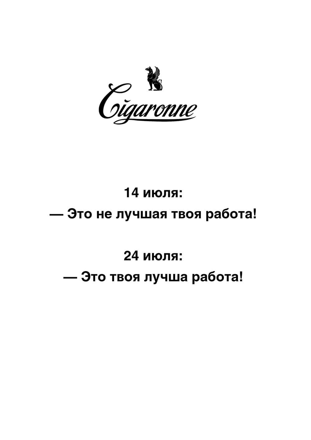 Отзыв от заказчика промо-сайта cigaronne.ge