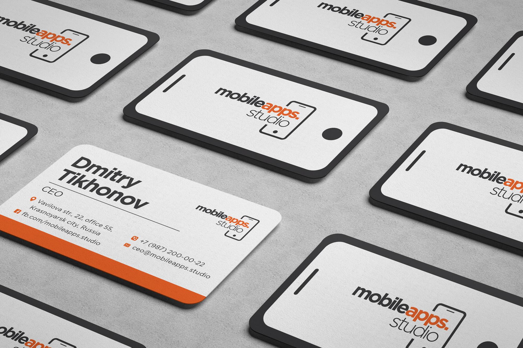 Логотип студии разработки мобильных приложений