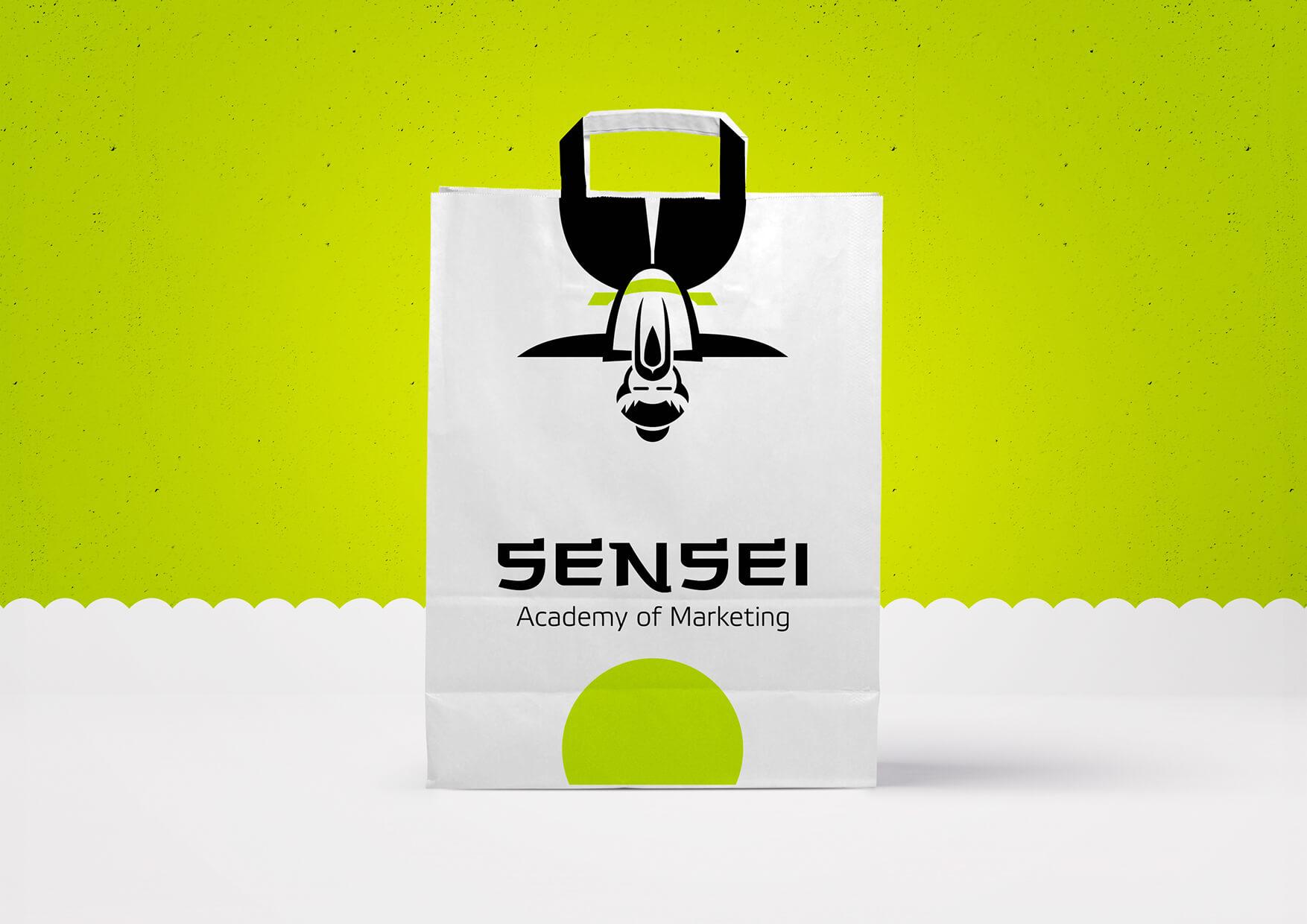 Логотип ифирстиль Академии маркетинга «Сенсей»