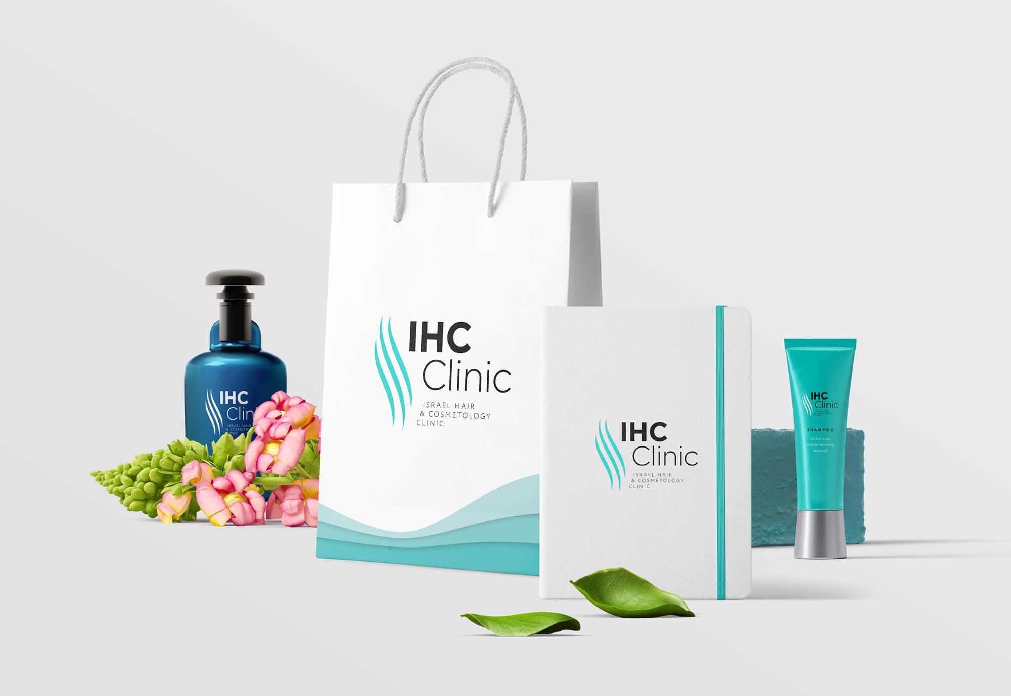 Логотип, фирменный стиль ибрендбук IHC Clinic