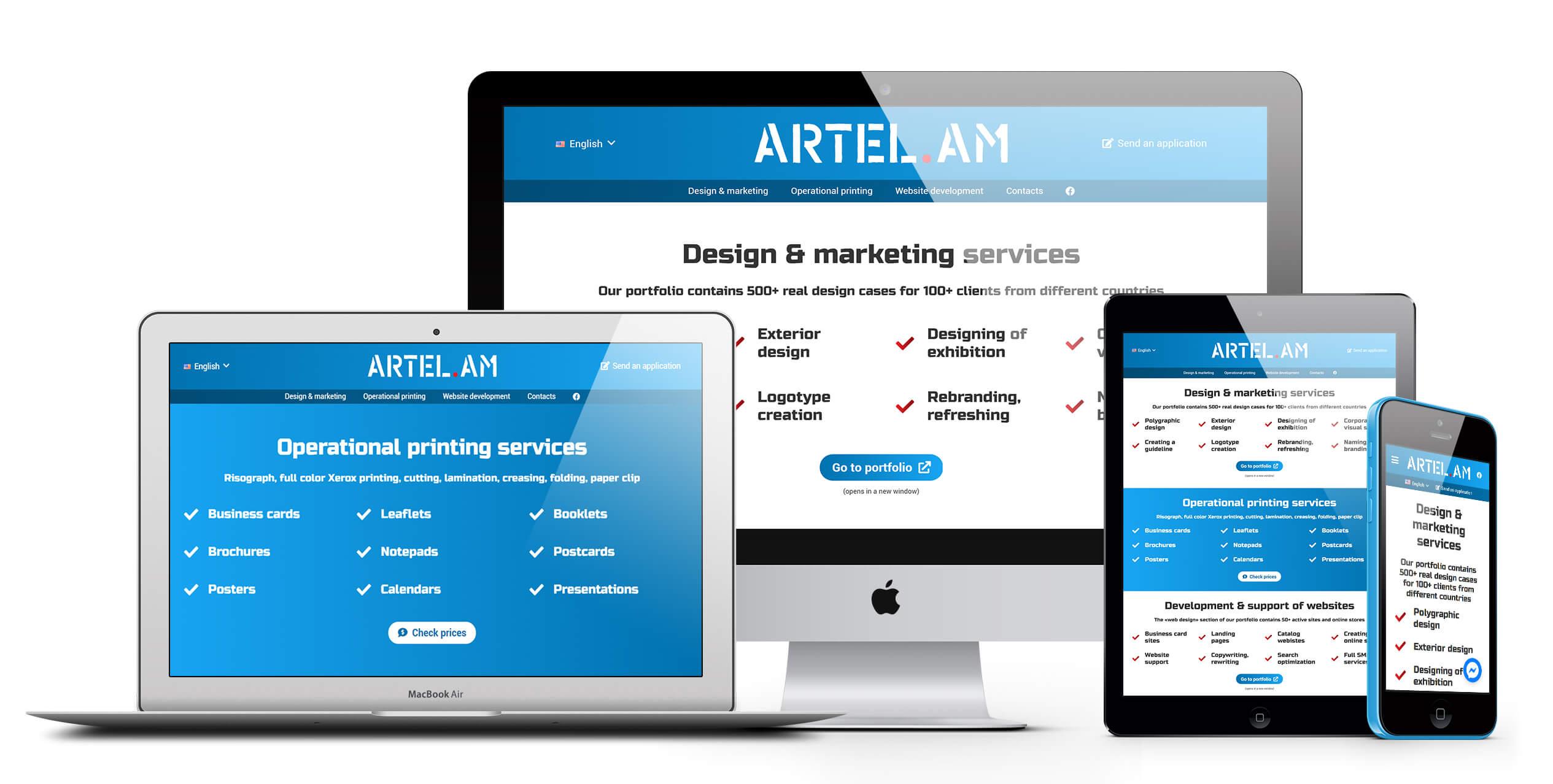 Сайт многопрофильной компании ARTEL.AM